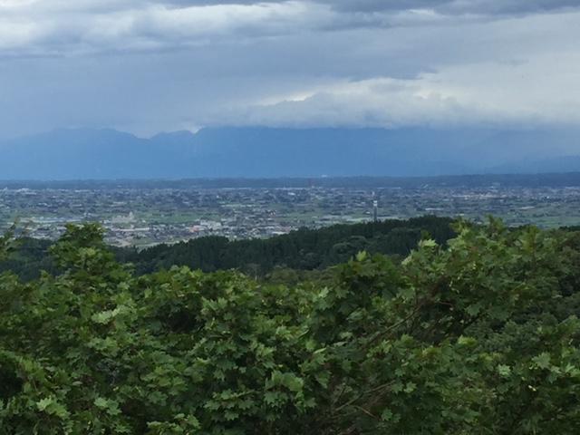 砺波平野の散居村の景色